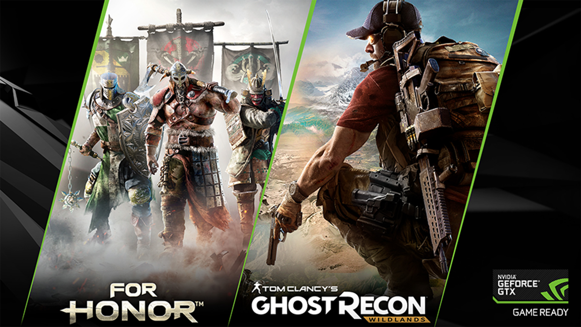 《For Honor》與《Ghost Recon:Wildlands》二選一,加入 GeForce GTX 1060 和 GeForce GTX 1080 Ti