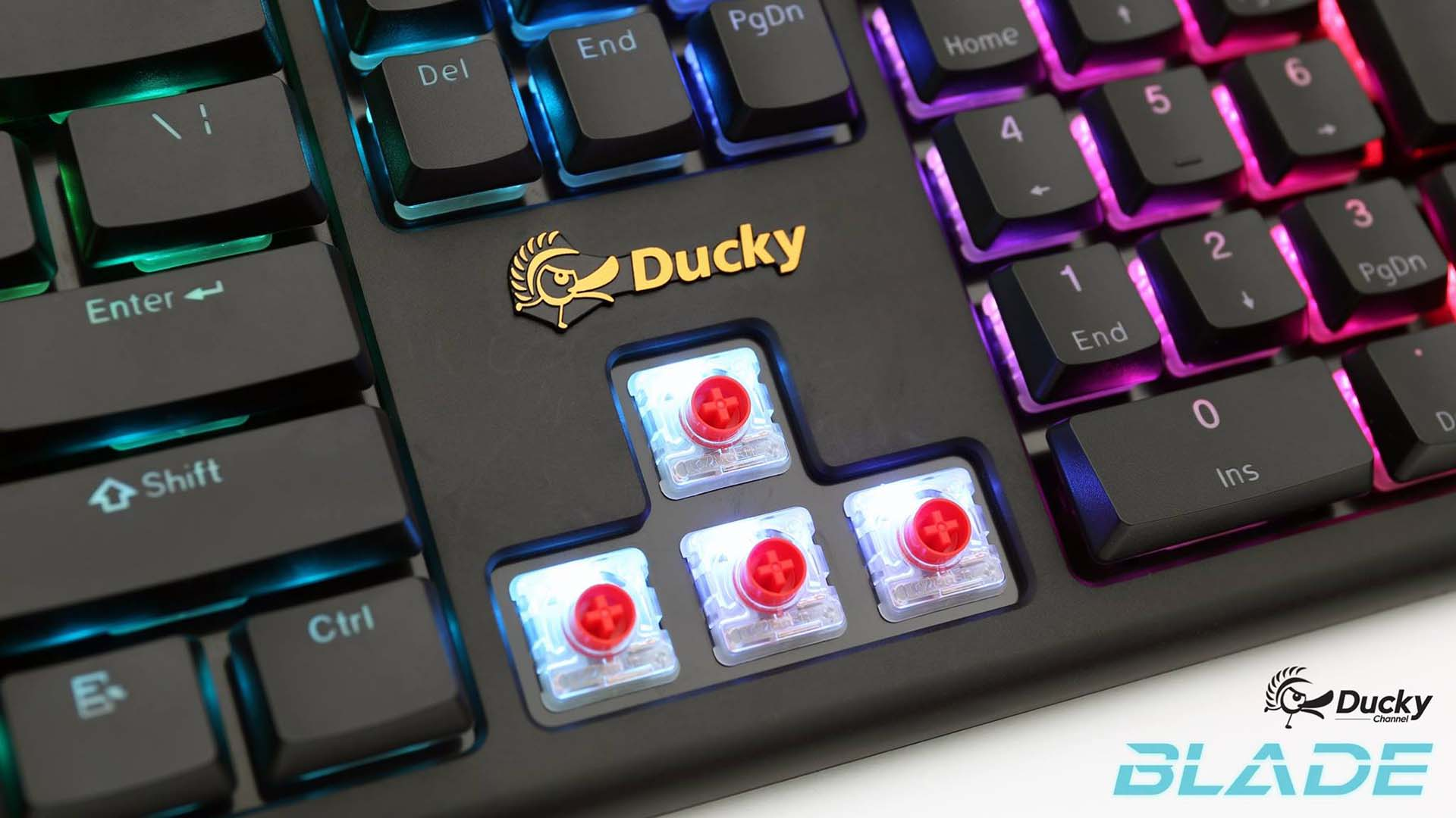導入藍牙模式,Ducky Blade Air 將使用 Cherry MX Low Profile RGB 紅軸