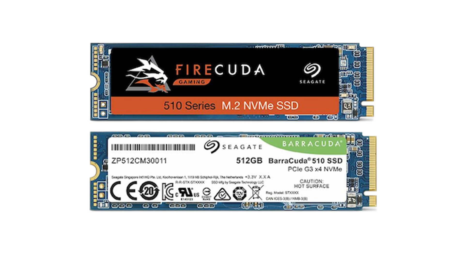 Barracuda 510 和 Firecuda 510 M.2 NVMe SSD 加入 Seagate 產品線