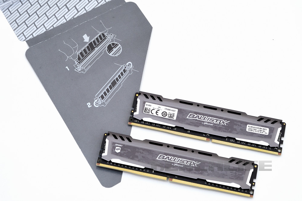 Ballistix Sport LT Gray DDR4-3200 16GB Kit