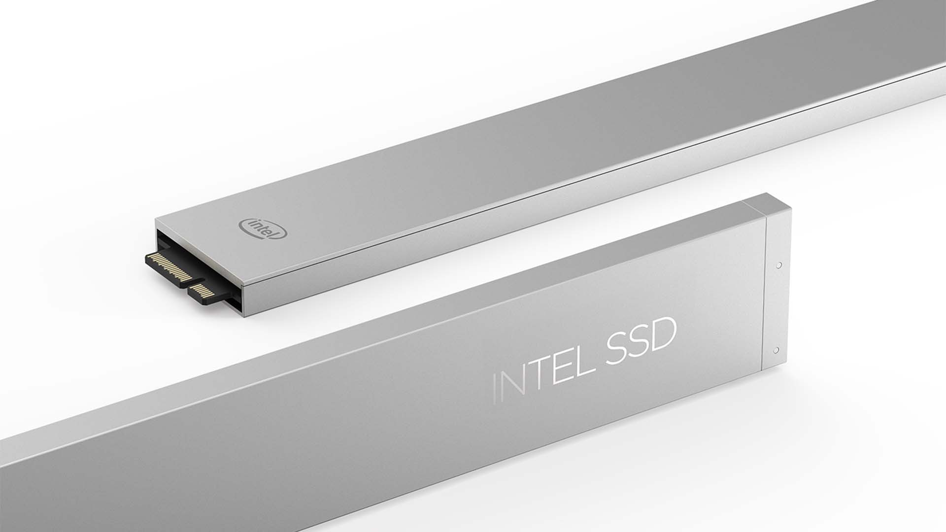 The Intel SSD DC P4500 Series comes in the ruler form factor, which is built for data center efficiency. The ruler form factor delivers unprecedented storage density, system design flexibility, scalable performance and easy maintenance. (Credit: Intel Corporation)