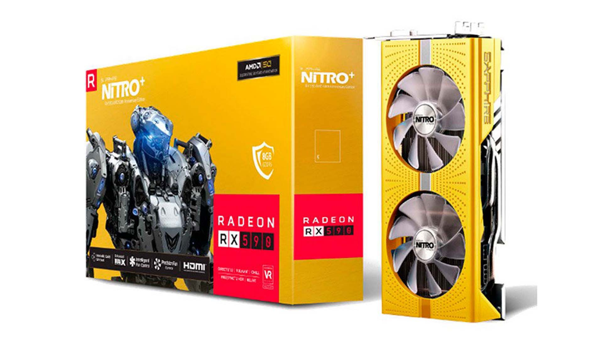 Sapphire 將推「AMD 50th Anniversary Edition」Nitro+ Radeon RX 590 8GB 顯示卡