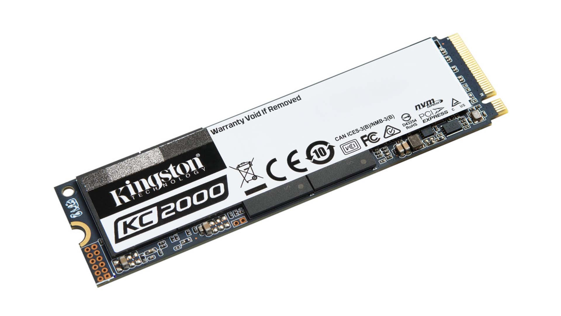 96 層 3D TLC NAND Flash 與 SM2262EN 控制器,Kingston KC2000 M.2 NVMe SSD 登場