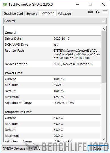 ASUS ROG Strix GeForce RTX 3070 O8G Gaming GPU-Z General